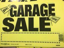 GARAGE SALE SIGN Neon Yellow 8x12 10 pack FLEXIBLE WEATHER RESISTANT PLASTIC