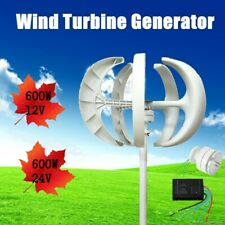 12V/24V Lanterns Wind Turbine Generator Kit Vertical Axis With Controller 600W