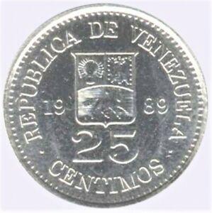 Venezuela - 1989 - 25 Centimos - Original Bank Roll of 50 coins - B.Unc !!