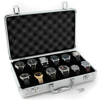 Tech Swiss TSBOXAL12 Watch Storage Aluminium Case Watch box