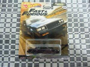 Hot Wheels Fast and the Furious Premium Set 87 Buick Grand National 3/5