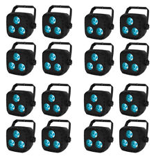 16 Pack RGBW LED Par Can Stage Light DMX512 Strobe DJ Club Party Bar Uplighting