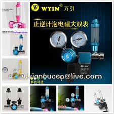 WYIN Aquarium Pressure Gauge CO2 Regulator, Solenoid CGA320, M22, W21.8, G5/8
