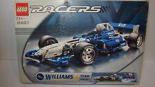 LEGO 8461 Williams F1 Formel 1 Team Racer, Bau Anleitung und OVP gebraucht.