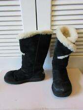 WOMENS UGG AUSTRALIA BLACK/WHITE SUEDE BOOTS SIZE 5