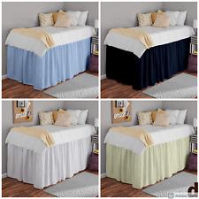 Bed Skirts Dorm Room, Ruffle Dorm Bedskirt Twin-Xl All Drop Mirofiber All Color
