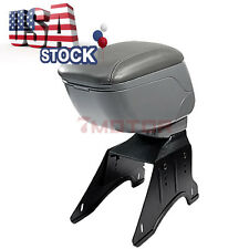 US Car Front Gray Center Armrest Leather Console Box Fit For Universal Nissan 7M