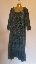 Plus Size 30-32 Black Quirky Velvet  Party Maxi Dress fit 1647 Size 5 5XL
