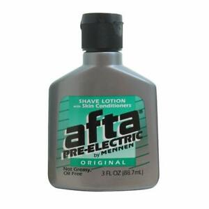 Afta Pre-Electric Shave Lotion With Skin Conditioners Oil Free - 3 oz - 3 PACK