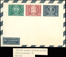 1950 Upu Airmail Envelope, Private Printing, Unused, European Style Envelope, Vf