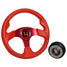 For Honda Acura JDM 320mm 6-Bolt Steering Wheel & Boss Kit Hub Adapter & Emblem