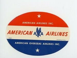 VINTAGE LUGGAGE LABEL - American Airlines AA