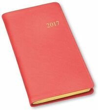 2017 Gallery Leather Monthly Pocket Planner Agenda Organizer Calendar Salmon