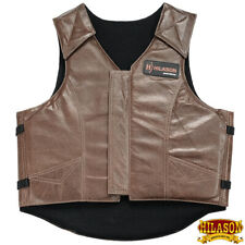 Large Equestrian Horse Riding Vest Safety Protective Hilason Leather U-27-L