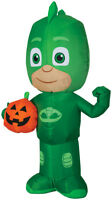 HALLOWEEN PJ MASKS GEKKO PUMPKIN  HAUNTED HOUSE  INFLATABLE AIRBLOWN 3.5 FT