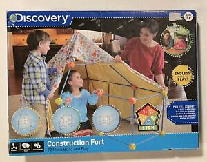 Discovery Kids Construction Fort 72pc Build & Play Open Box