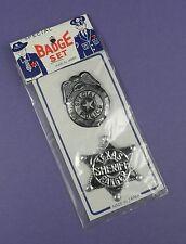 Texas Ranger shérif & police spéciale Tin Badges-Comme neuf on Card c1960's