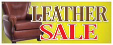 Leather Sale Banner Furniture Couch Chairs Store Retail Sign 18x48