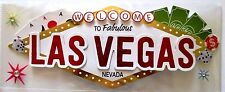Las Vegas Sign Title Casino Gambling slots Poker Nevada Shows RC 3D Stickers