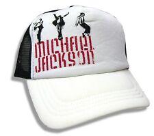Michael Jackson Dance Poses White Trucker Hat Cap New Official Merch Baseball