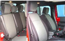Jeep Wrangler JK Rubicon 2007-10 Unlimited 4 door Neoprene Seat Cover Gray no4d