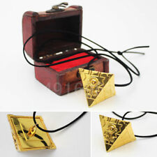 3D Yu Gi Oh Seven Artifact Millenium Puzzle Golden Necklace Pendant +Custom Box