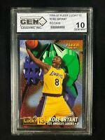 1996-97 Fleer 💎 Kobe Bryant 💎 Rookie 💎 not PSA 💎 Lucky 13 💎 GEM MINT 10