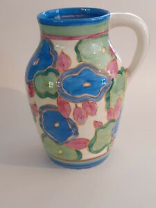 CLARICE CLIFF LOVELY JUG IN THE BLUE CHINTZ PATTERN CIRCA 1930