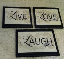 Live Love Laugh Plaques wall decor signs elegant ladies romantic pictures