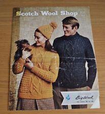 SCOTCH negozio di lana * Lana Grande * Maglioni Vintage con Motivo a Maglia Cavo * 201