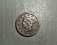 1848 Braided Hair Large Cent FINE/US Large Cents/Philadelphia mint  D4