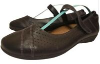 MINT TAOS WOMAN SHOES MARY JANES BLACK LEATHER SIZE 39/8.5-9
