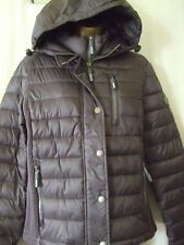 NEW £90 WOMENS SUPERDRY LARGE SIZE 14 CHARCOAL PEARL HOODED LUXE FUJI JACKET
