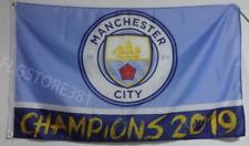 Manchester City FC Flag Banner 3x5ft Champions 2019 Premier League