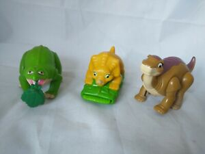 The Land Before Time Toys - 1997 Burger King - Spike, Cera and Littlefoot