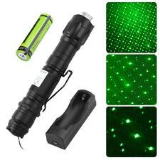 Green Laser Pointer High Power Visible Beam + Star Cap + 18650 Battery