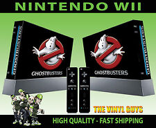 NINTENDO WII STICKER GHOST BUSTERS LOGO GHOSTBUSTERS ECTO SKIN & 2 PAD SKINS