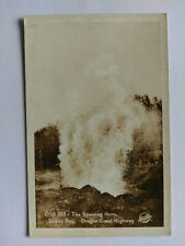 Depoe Bay,Oregon Vintage B&W Postcard c1930s The Spouting Horn