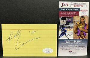 BILLY CANNON JSA Signed Autograph 3x5 Index Card 1959 Heisman LSU Tigers RR08739