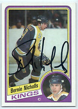Bernie Nicholls signed 1984-85 Topps hockey Los Angeles Kings autograph #67