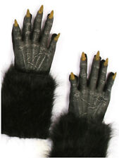 "Werewolf Gloves - Black Wolf Evil Fur Halloween Adult 16"" Long Costume Halloween"