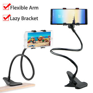 360° Clip Flexible Mobile Cell Phone Holder Bed Desktop Bracket Mount Stand Lazy