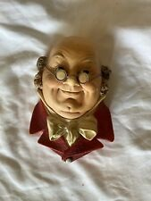 Vintage Bossons Chalkware Head Dickens Mr Pickwick Benjamin Franklin 1964 wall