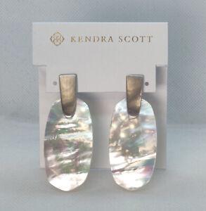 New Kendra Scott Aragon Drop Earrings In Ivory Pearl / Silver