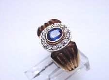 Gorgeous Sapphire Ring Solid 14 kt Gold Ring, Outstanding, Free Shipping (#5188)