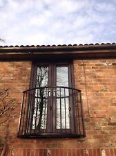 Bowed type Wrought iron Juliet Balcony 1500 x 1100  Galvanised & powder coated
