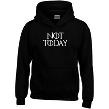 Not Today Hoodie Game of Thrones GOT Arya Stark Night King Men Sweatshirt Top