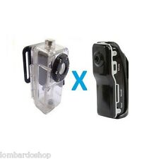 CUSTODIA SUBACQUEA VIDEOCAMERA DIGITALE MINI DV MD80 SPORT IMPERMEABILE CAMERA