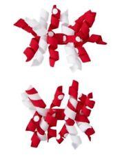 GYMBOREE POLKA DOT LADYBUG RED & WHITE CURLIES HAIR BARRETTES 2-ct NWT