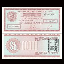 Bolivia 10 Centavos on 100000 Pesos, 1987, P-197, UNC
